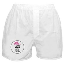 Real Chicks ... Drive Sticks !! Boxer Shorts