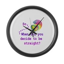 When did you decide? Large Wall Clock