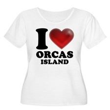 I Heart Orcas Island Plus Size T-Shirt