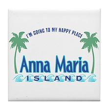 Anna Maria Island-Happy Place Tile Coaster