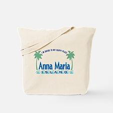 Anna Maria Island-Happy Place Tote Bag