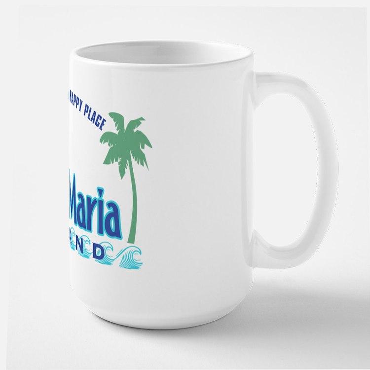 Anna Maria Island-Happy Place Large Mug