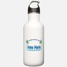 Anna Maria Island-Happy Place Sports Water Bottle