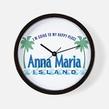 Anna Maria Island-Happy Place Wall Clock