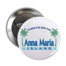 "Anna Maria Island-Happy Place 2.25"" Button"