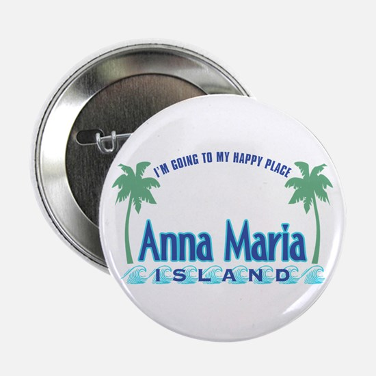 "Anna Maria Island-Happy Place 2.25"" Button"