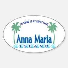 Anna Maria Island-Happy Place Bumper Stickers