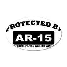 property of protected by ar15 b Wall Decal