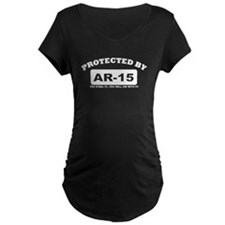 property of protected by ar15 w Maternity T-Shirt