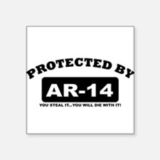 property of protected by ar14 b Sticker