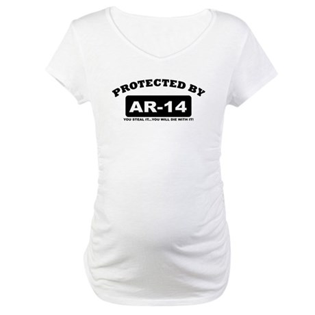 property of protected by ar14 b Maternity T-Shirt