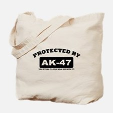 property of protected by ak47 b Tote Bag