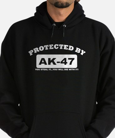 property of protected by ak47 w Hoodie