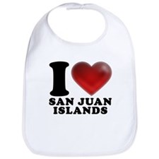 I Heart San Juan Islands Bib