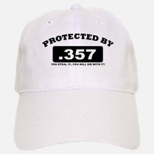 property of protected by 357 b Baseball Baseball Baseball Cap