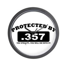 property of protected by 357 b Wall Clock
