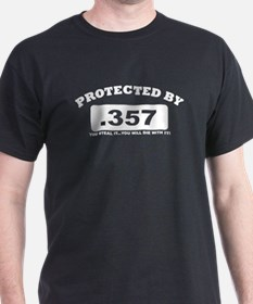 property of protected by 357 w T-Shirt