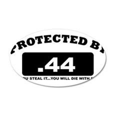 property of protected by 44 b Wall Decal