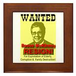 Wanted Reese McKinney Resigna Framed Tile