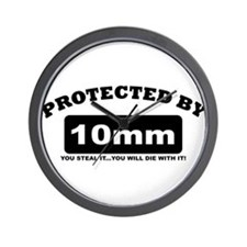 property of protected by 10mm b Wall Clock