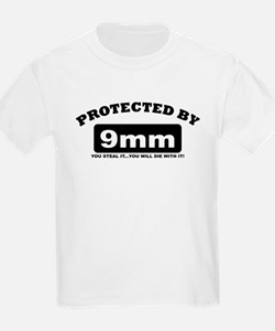 property of protected by 9mm b T-Shirt