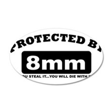 property of protected by 8mm b Wall Decal