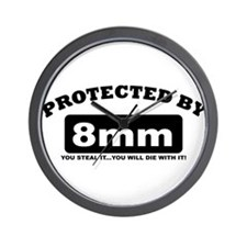 property of protected by 8mm b Wall Clock