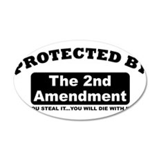 property of protected by 2nd amendment b Wall Deca