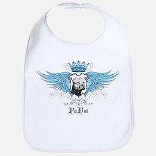 Blue Pit Bull Wing Crest Bib