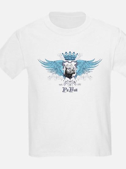 Blue Pit Bull Wing Crest T-Shirt