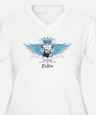Blue Pit Bull Wing Crest T-Shirt