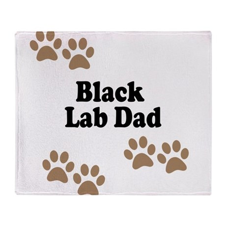 Black Lab Dad Throw Blanket
