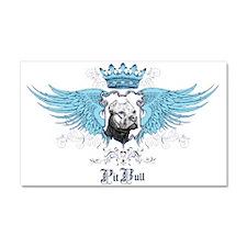 Blue Pit Bull Wing Crest Car Magnet 20 x 12
