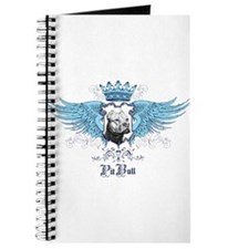 Blue Pit Bull Wing Crest Journal
