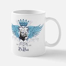 Blue Pit Bull Wing Crest Mug