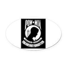 POW MIA Oval Car Magnet