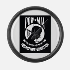 POW MIA Large Wall Clock
