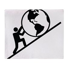 Holding up the World Throw Blanket