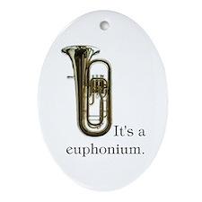 It's a Euphonium Ornament, oval