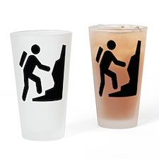 Rock Climber Drinking Glass