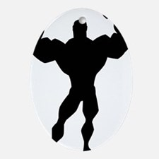 Strong Guy Ornament (Oval)