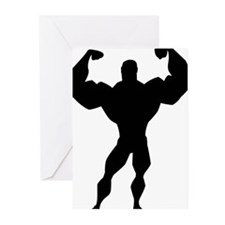 Strong Guy Greeting Cards (Pk of 20)