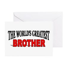 """""""The World's Greatest Brother"""" Greeting Cards (Pac"""