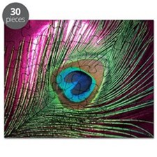 Magenta Peacock Puzzle