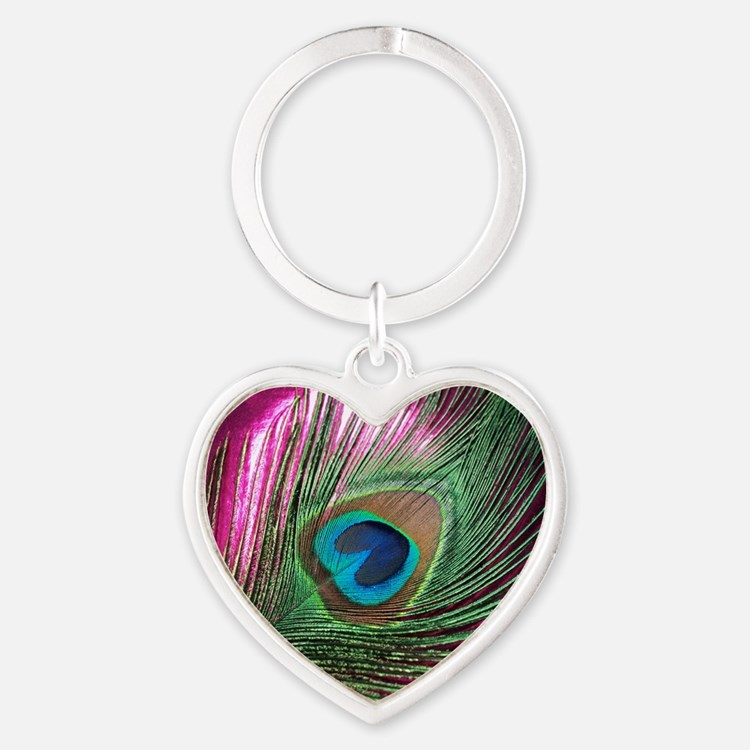 Magenta Peacock Keychains