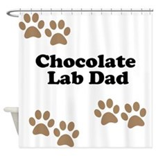 Chocolate Lab Dad Shower Curtain