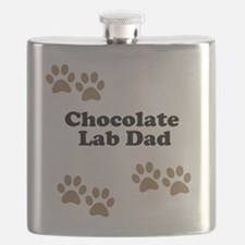 Chocolate Lab Dad Flask