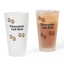 Chocolate Lab Dad Drinking Glass