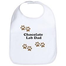 Chocolate Lab Dad Bib