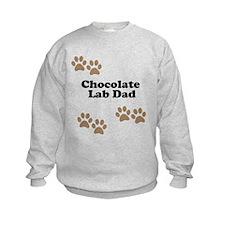 Chocolate Lab Dad Sweatshirt